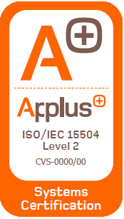 Logo del Certificado Applus ISO/IEC 15504 Level 2